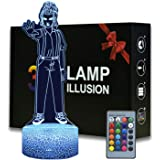 3D Illusion Eleven Figurine Night Light , 16 Colors Changeable Desk Lamp with Remote Control Kids Bedroom Decoration, Creativ