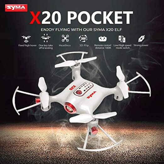 Pocket Drone, Syma X20 2.4G 4CH Mini Pocket Drone RC Quadcopter ...