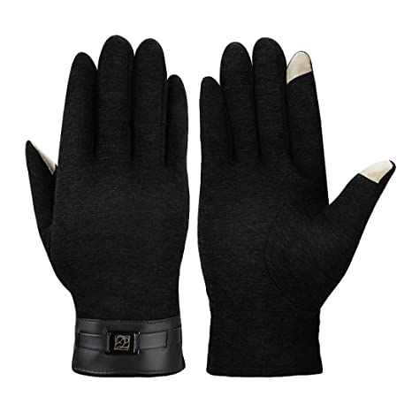 6aafffcf6940 MPTECK   Gants à écran tactile Gants Tactiles chauffants d hiver pour hommes  Velours PU