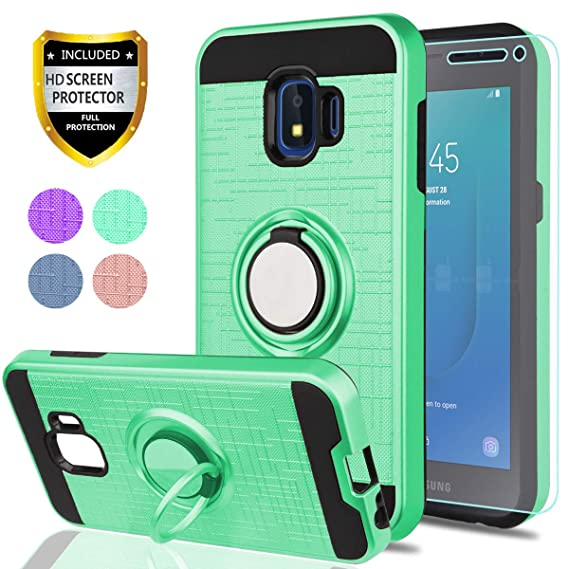 info for c8622 43eee Samsung Galaxy J2 Core Case with HD Phone Screen Protector,YmhxcY 360  Degree Rotating Ring & Bracket Dual Layer Resistant Back Cover for Samsung  ...