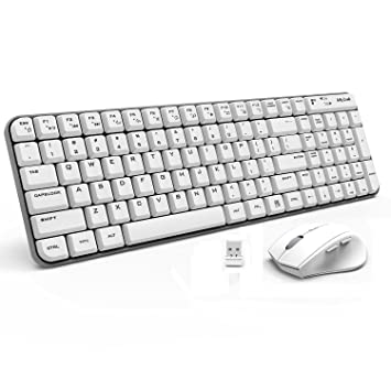 Wireless Keyboard and Mouse - Jelly Comb K025 Compact 2 4Ghz