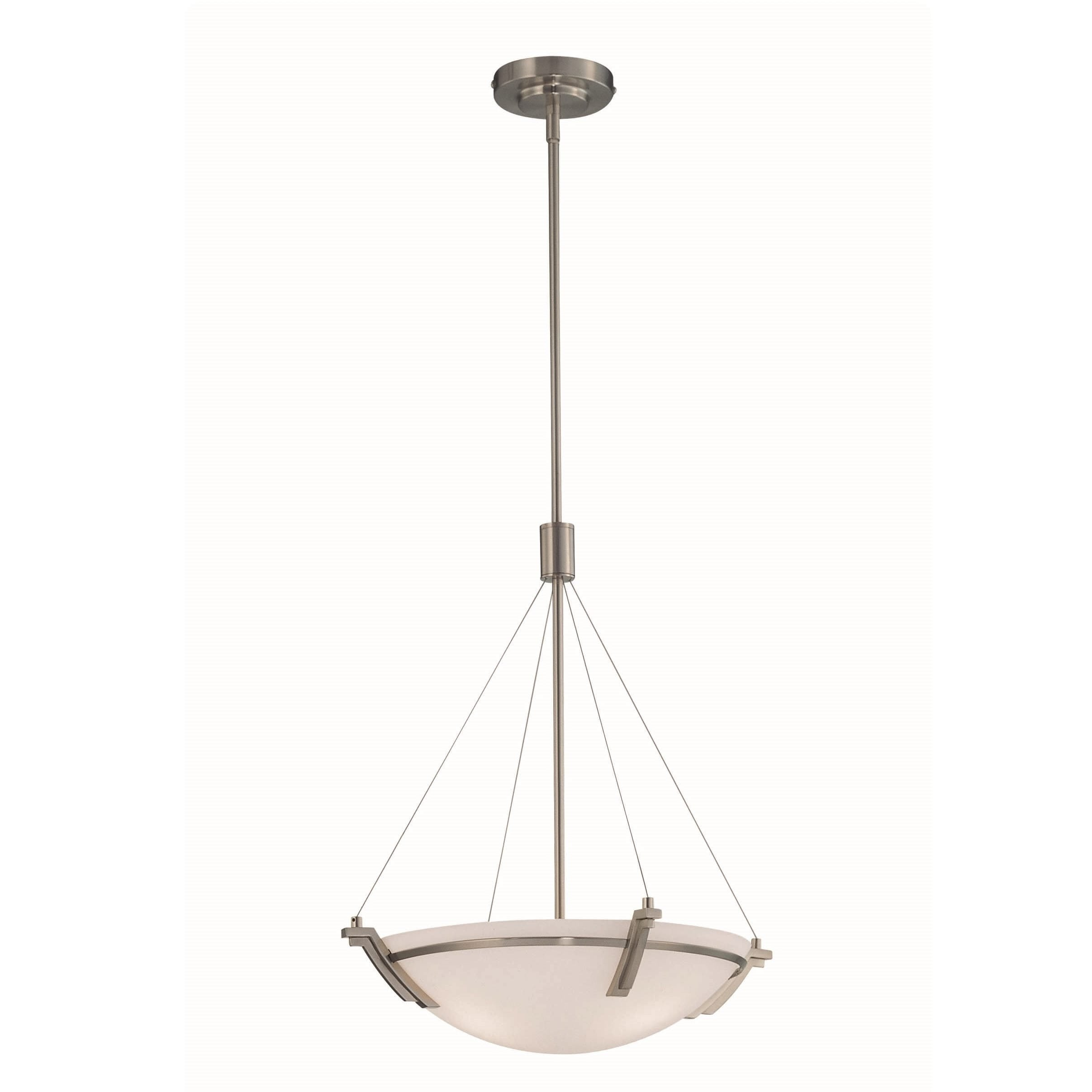 Lite Source LS-19031PS Silvia 16-Inch Ceiling Lamp, Polished Steel with Frosted Glass