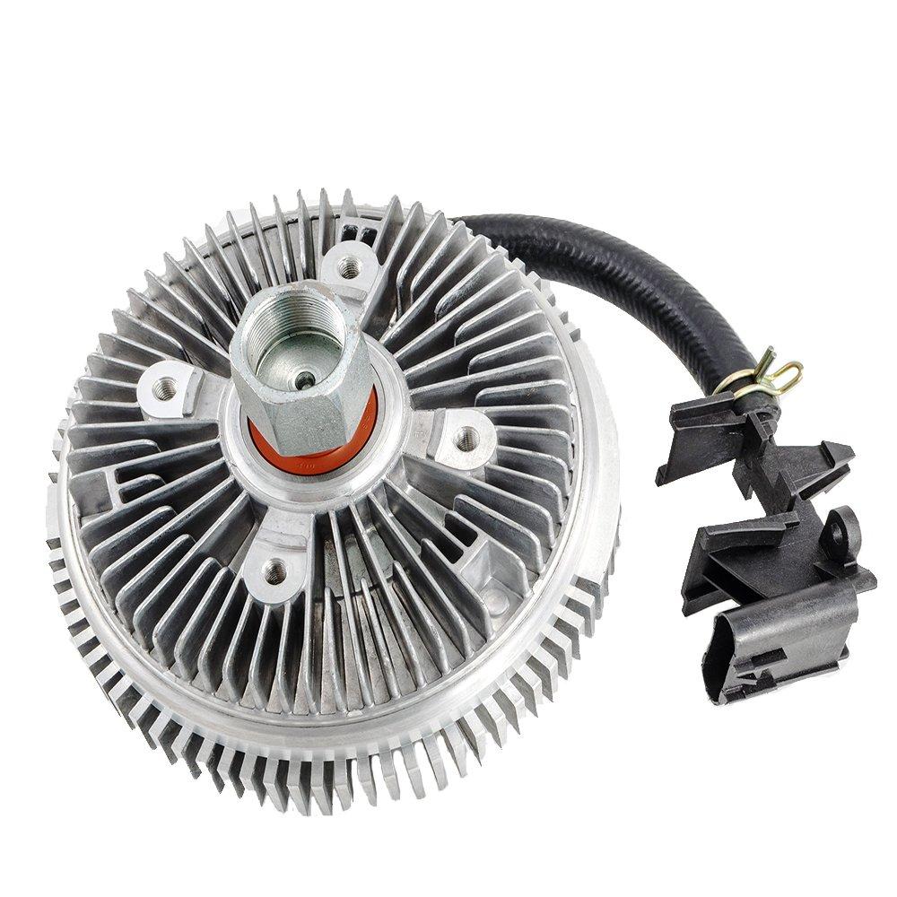 HEX AUTOPARTS Electric Radiator Cooling Fan Clutch for Buick Rainier Chevy Trailblazer EXT GMC Envoy Isuzu Ascender Olds Bravada Saab 9-7X 2002 2003 2004 2005 2006