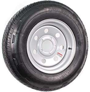 2-Pack Mounted Trailer Tire and Rim ST185/80R13 LRD 5-4.5 Silver Modular Wheel
