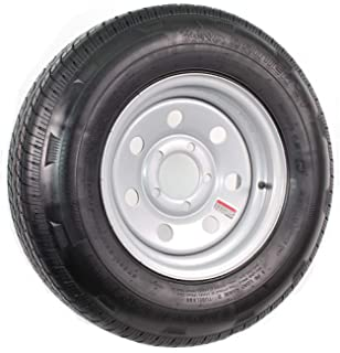 eCustomRim Radial Trailer Tire and Rim ST185/80R13 13X4.5 5-4.5 Silver