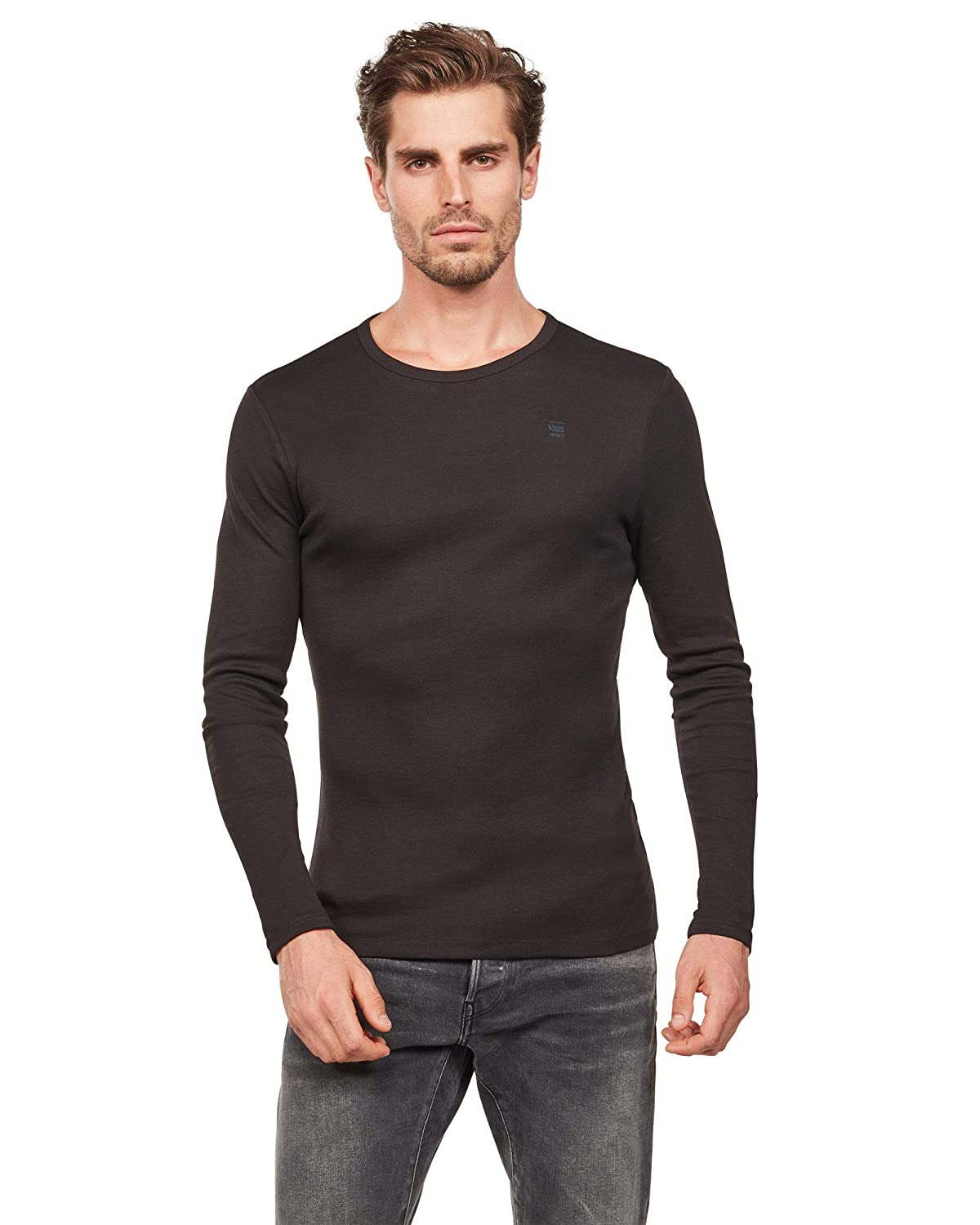 G-STAR RAW Base R T L/S 1-Pack Camisa Manga Larga para Hombre