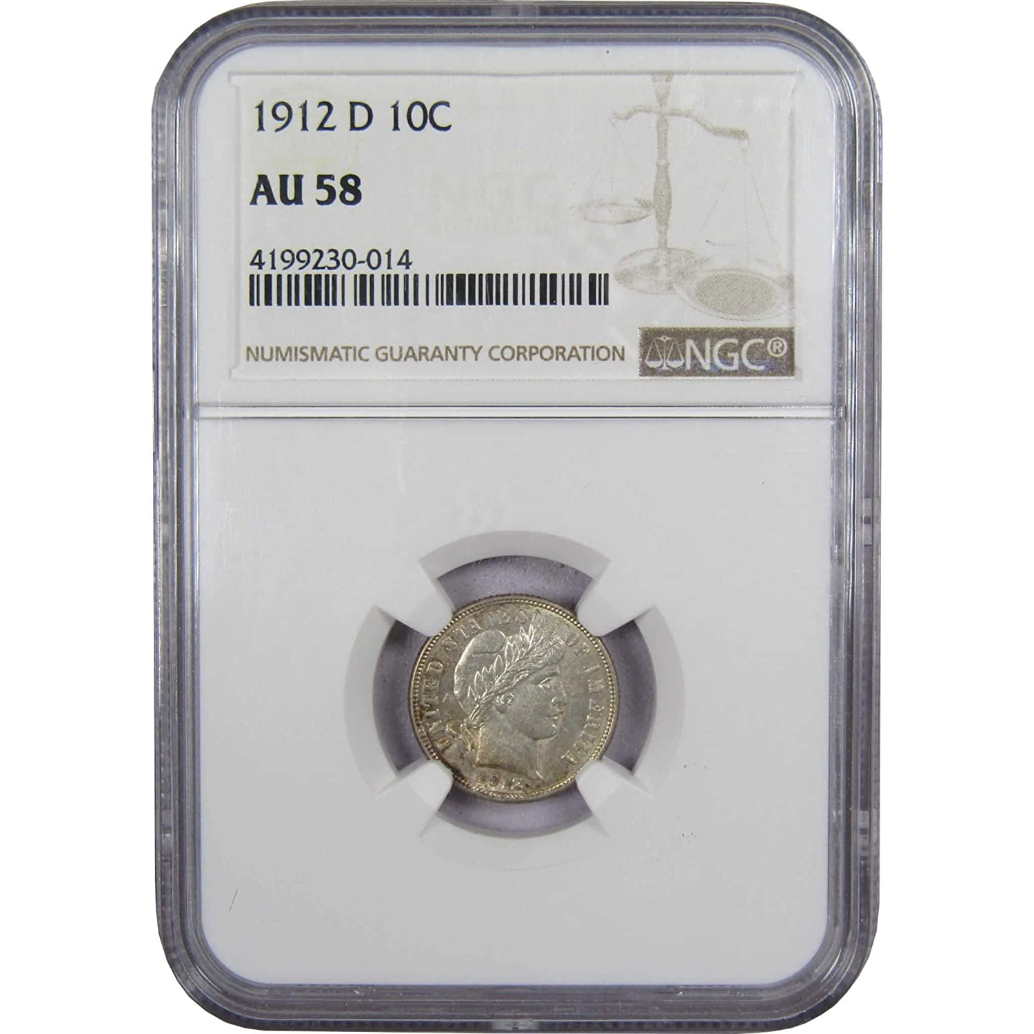 1912-D 10C Barber Dime ONE Coin