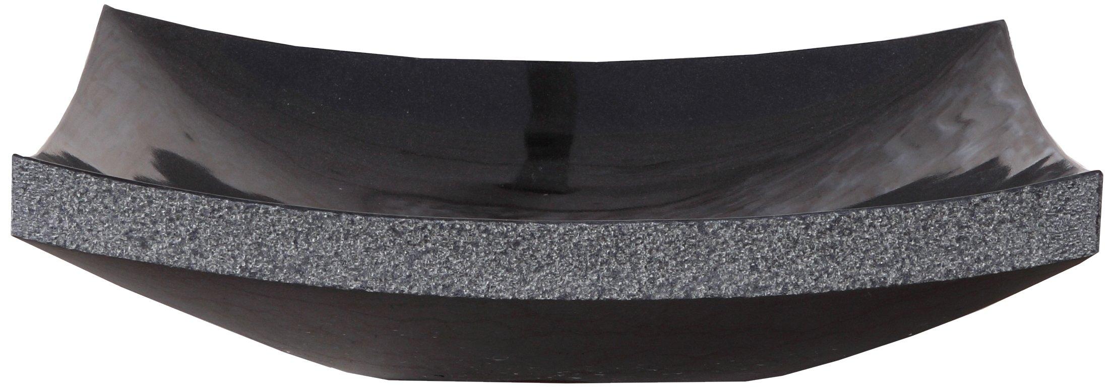 Virtu USA VST-2023-BAS Olympia Vessel Sink with Natural Shanxi Black Granite