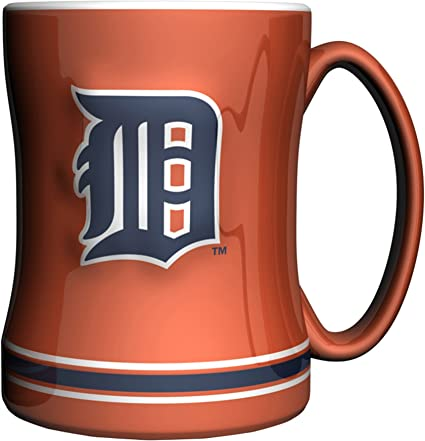 Orange MLB Unisex MLB 14-Ounce Sculpted Relief Mug Alternate Color