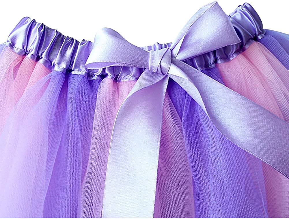 Evelin LEE Baby Girls Colorful Layered Rainbow Tutu Skirt Dance Dress Ruffle Tiered Clubwear