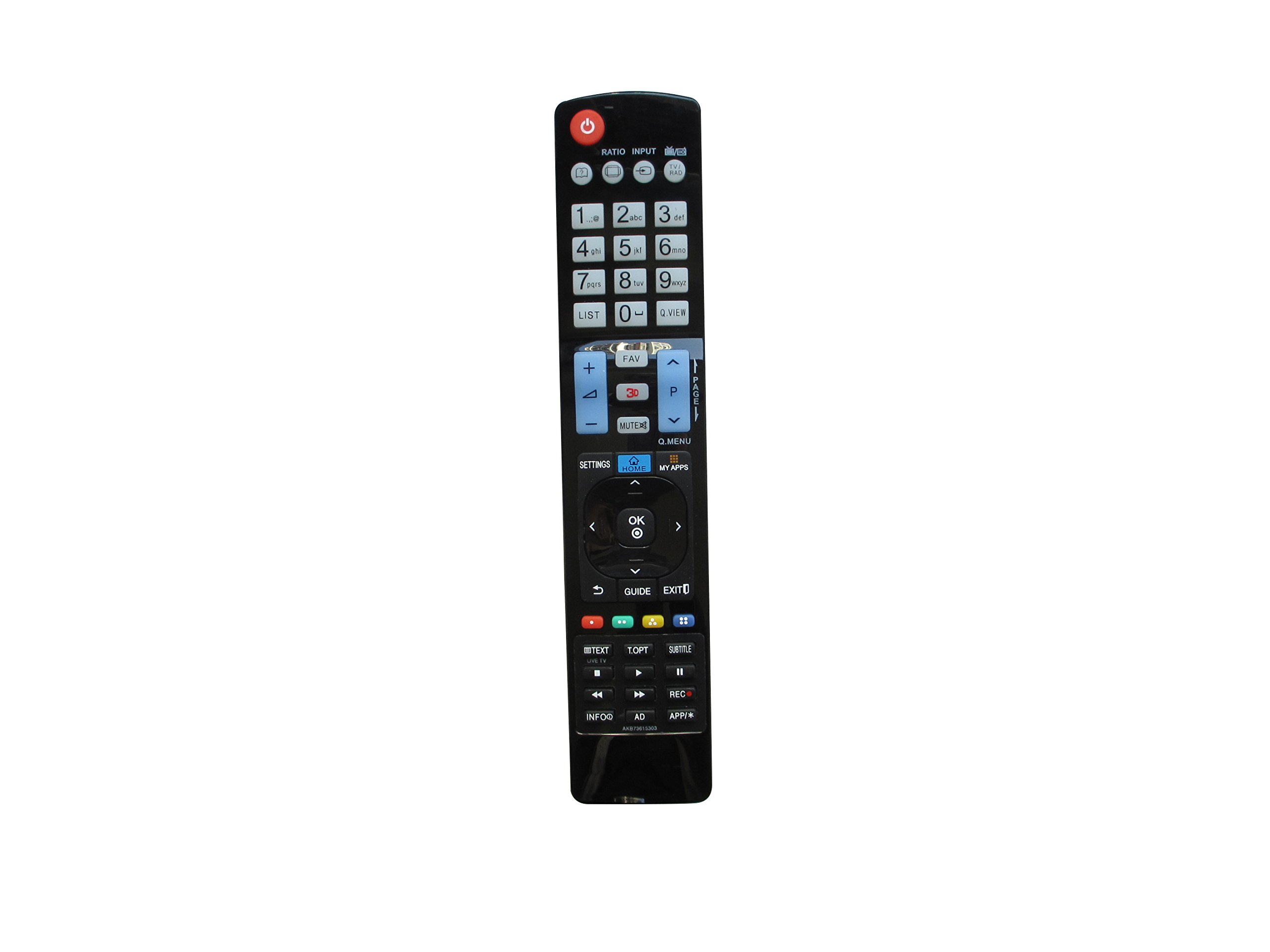 Replacement Remote Control Fit For LG 55LW9500 19LS3500 60LW7700 65LW7700 32LG700H-UA 42LG500H-UB 32LX50C 42LH30-UA 60PK950-UA 50PK550-UD 22LH25R 60PK750-UA 50PK950-UA Smart 3D Plasma LCD LED HDTV TV by HCDZ