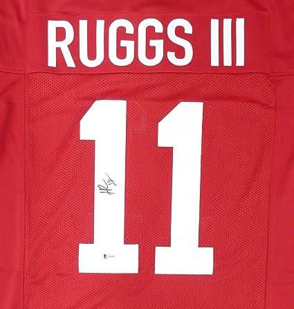 Amazon.com: Alabama Henry Ruggs III Autographed Red Jersey Beckett ...