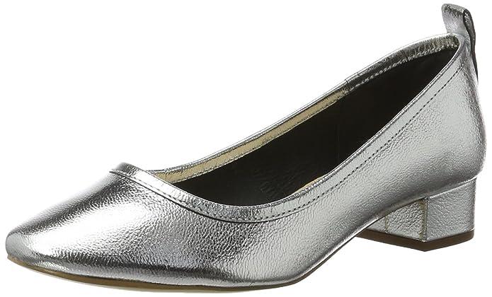 Aston NP, Escarpins Bout Fermé Femme, Argenté (Silver), 39 EUCarvela