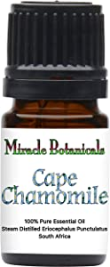 Miracle Botanicals Wildcrafted Cape Chamomile Essential Oil - Indigenous South African 100% Pure Eriocephalus Punctulatus - 5ml
