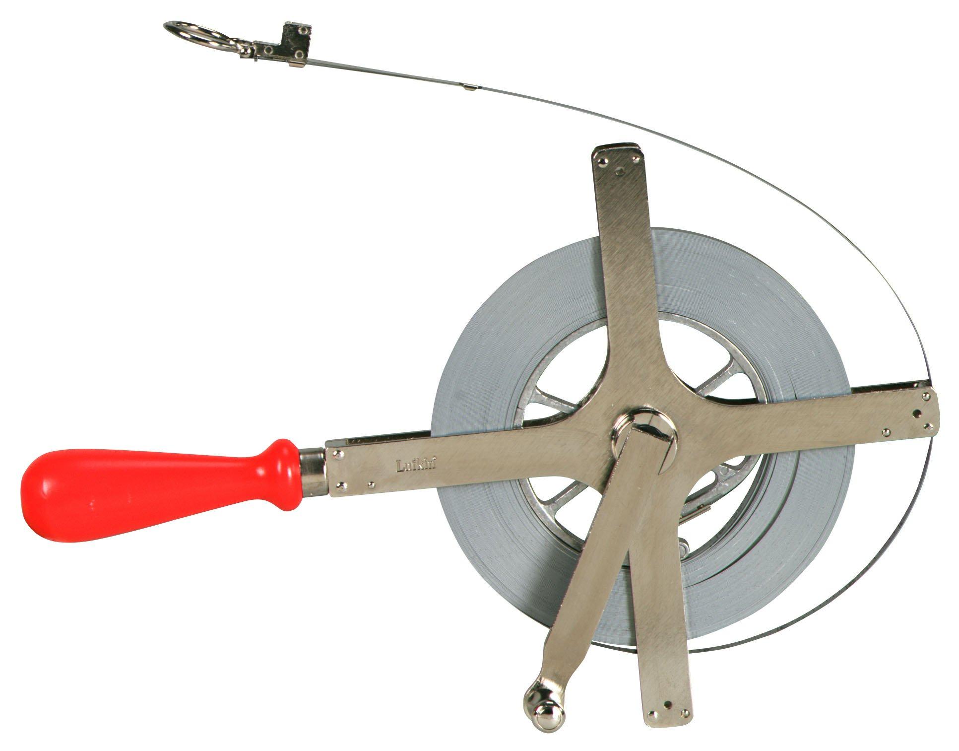 Lufkin CD2730DMM 6mm x 30m Engineer-Foot Derrick Chrome Clad Tape
