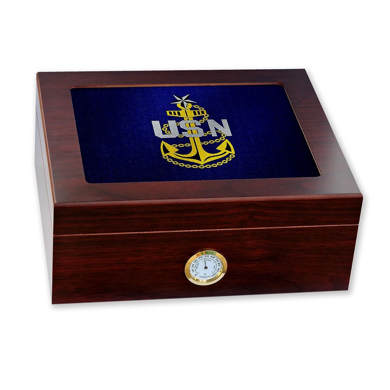 最も優遇の プレミアムデスクトップHumidor – Petty – ガラストップ – 米国海軍Senior Chief Petty Officer (襟)、ランクIns (襟) B06W9H81YV, Spice of Life-スパイスオブライフ:86bcd7d2 --- a0267596.xsph.ru