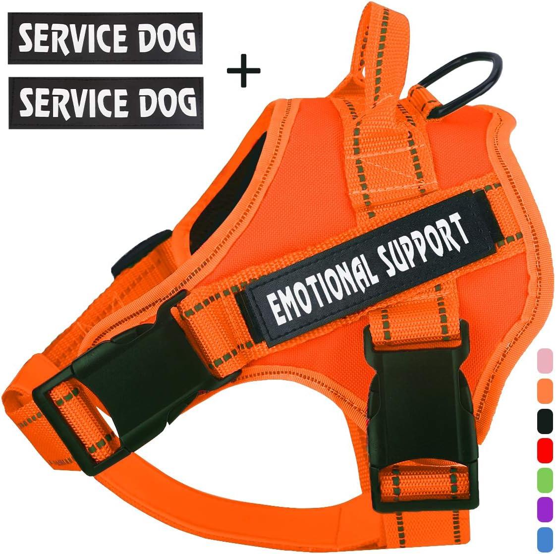 PET EMOTIONAL THERAPY PTSD MESH SERVICE DOG VEST REMOVABLE REFLECTIVE PATCH MA#
