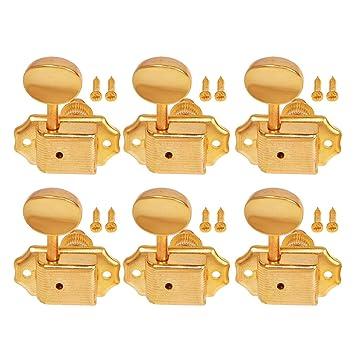 Kmise eléctrico acústica guitarra cuerdas Clavijas de afinación Keys Clavijas Clavijas Oro 6 derecha inline
