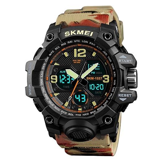 Abrray - Reloj deportivo para hombre, resistente al agua, cuarzo, relojes digitales de lujo, LED, relojes militares: Amazon.es: Relojes