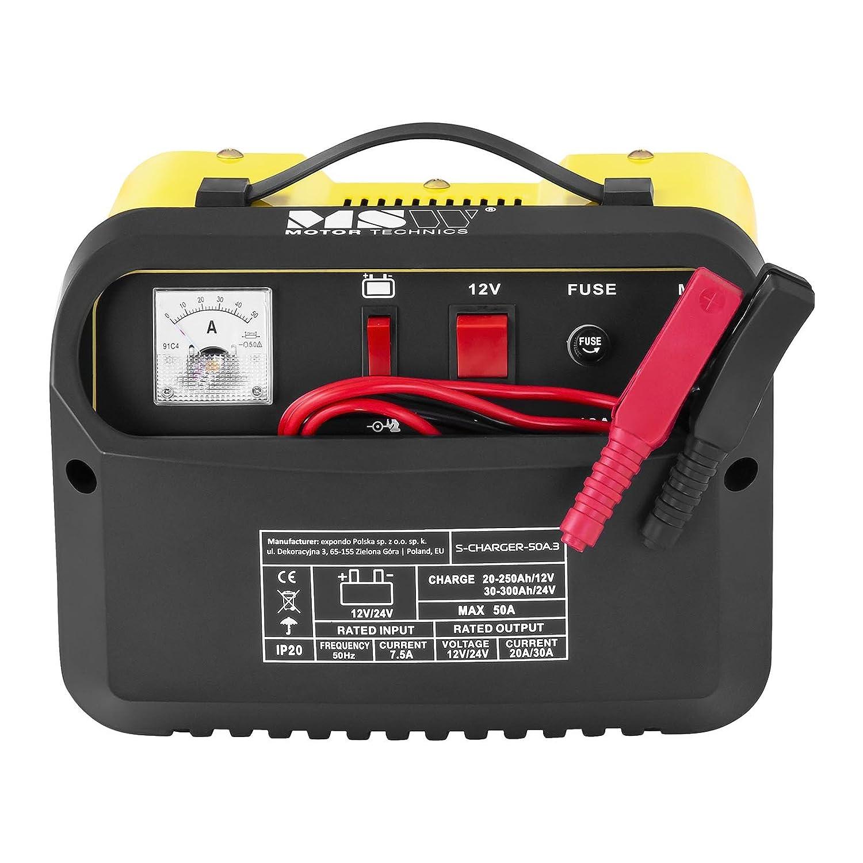 MSW Cargador de batería Coche S-CHARGER-20A.2 (12/24 V Tensión de ...