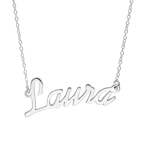 Sterlingsilber Name Laura | Halskette an 35,6cm Kette