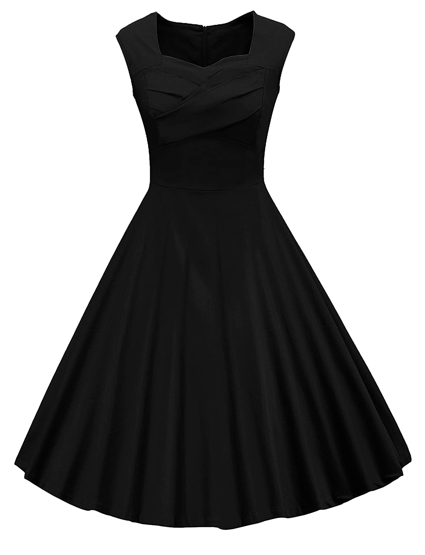 8db1d77e876 Style Audrey Hepburn style womens vintage 50s cocktail rockabilly dress.  Design  Pleated bodice design