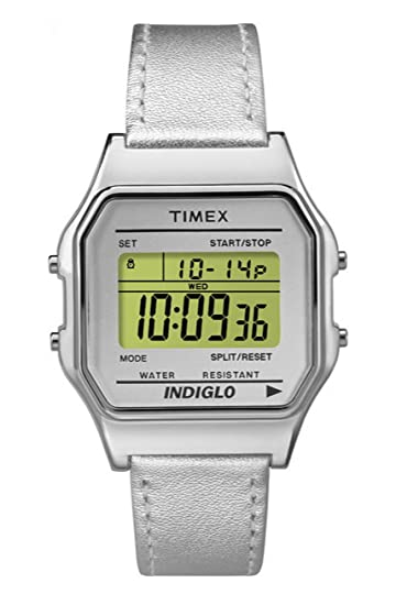 Timex Reloj Digital para Unisex de Cuarzo con Correa en Cuero TW2P76800: Amazon.es: Relojes
