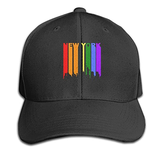 Amazon.com  LGBT Gay New York Pure Color Peaked Hat Made Trucker Cap ... 0bdcf0b86e4