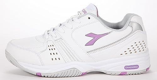 Diadora - Zapatillas de Tenis Mujer , color blanco, talla 42: Amazon.es: Zapatos y complementos