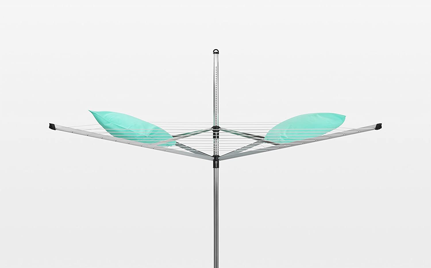 Silver 50 m Brabantia Lift-O-Matic Rotary Airer  Washing Line with 45mm Metal Soil Spear and  Accessories