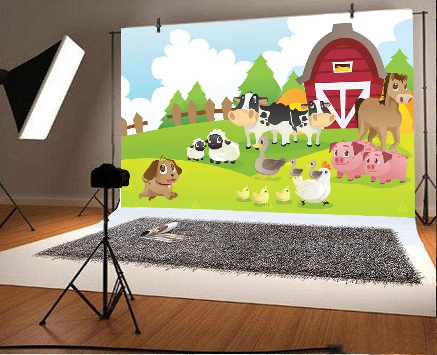 8x12 FT Cow Print Vinyl Photography Backdrop,Cow Hide Pattern with Black Spots Farm Life with Cattle Camouflage Animal Skin Background for Photo Backdrop Baby Newborn Photo Studio Props