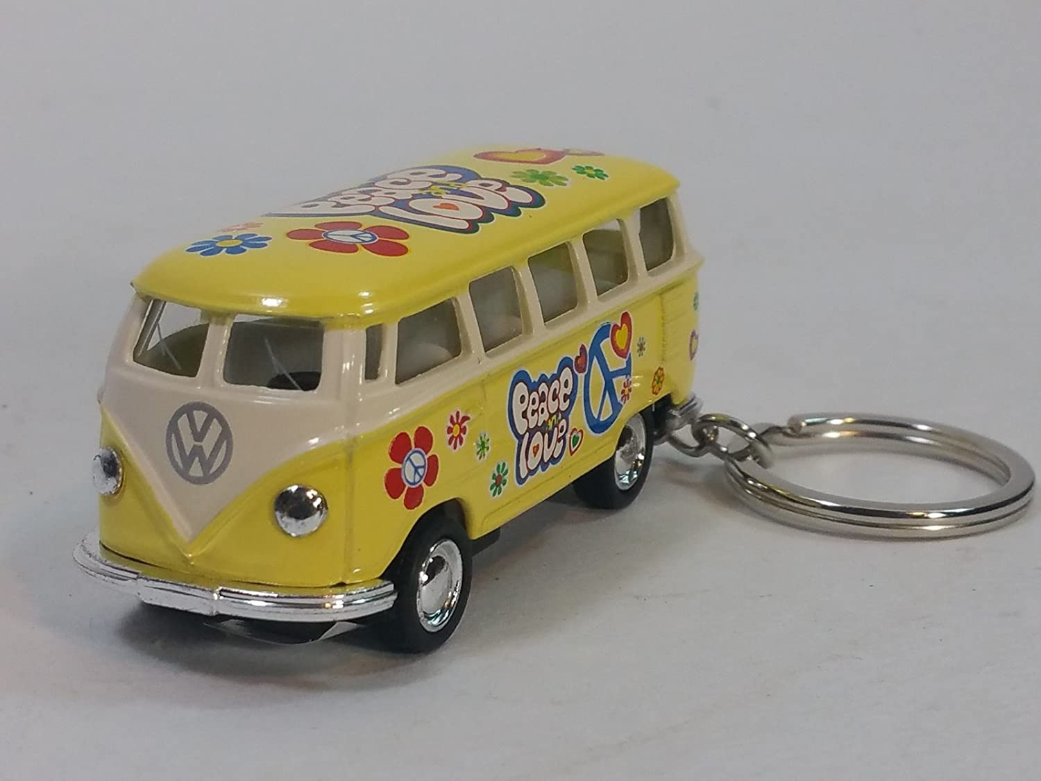 Amazon.com: Kinsmart amarillo Classic 1962 Love & Peace VW ...