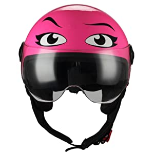 BHR Casque Moto Demi-Jet ligne One 801, Eyes rose, XS (54 cm)