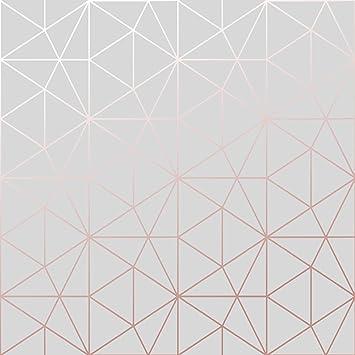 Papier Peint Forme Geometrique.Papier Peint Metro Prisme Geometrique Triangle Gris Et Or Rose Wow009 World Of Wallpaper