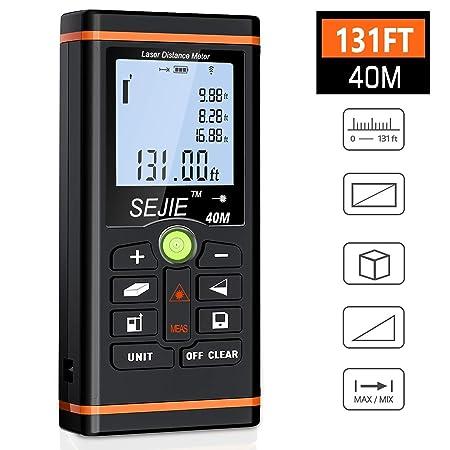 BEBONCOOL Entfernungsmesser, Laser-Entfernungsmesser Lasermessgerät Distanzmessgerät, Messbereich 0,05~40m/±1.5mm mit LCD Hin
