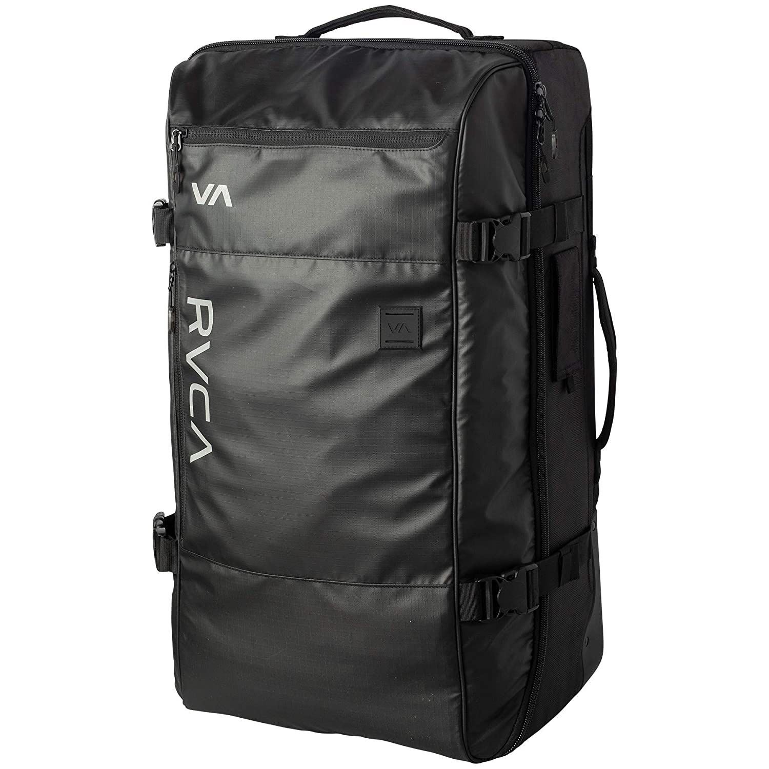 Image of RVCA Men's Eastern Large Roller Luggage Travel Bag, Black, ONE SIZE Luggage
