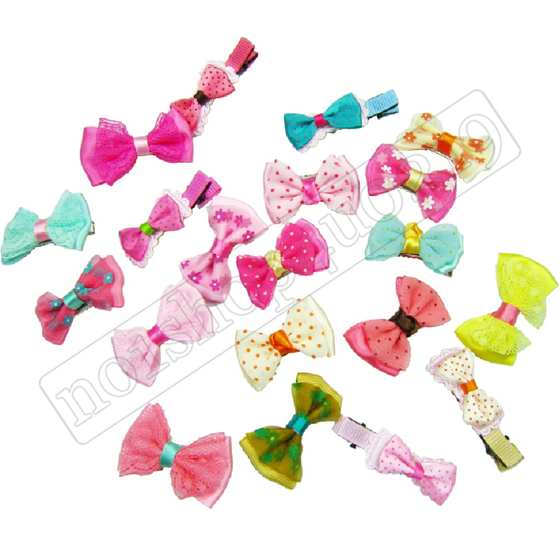 blyyasgi 20 Pet Dog Pup's Hair Head Flower Hairpin Clip Hair Bow Pet for Small Puppy