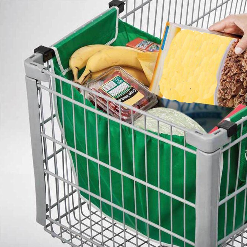 Sharplace 2x Bolsa de Compra de Carro Grab de Supermercado Carrito de Plegable Reutilizable de Tela: Amazon.es: Hogar