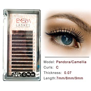 517095d3579 EMEDA Camellia False Lash Extension C Curl Eyelash Extensions Individual  Lashes Strip .07mm Mix Length Tray(8mm 9mm Length) (7&8&9mm): Amazon.co.uk:  Beauty