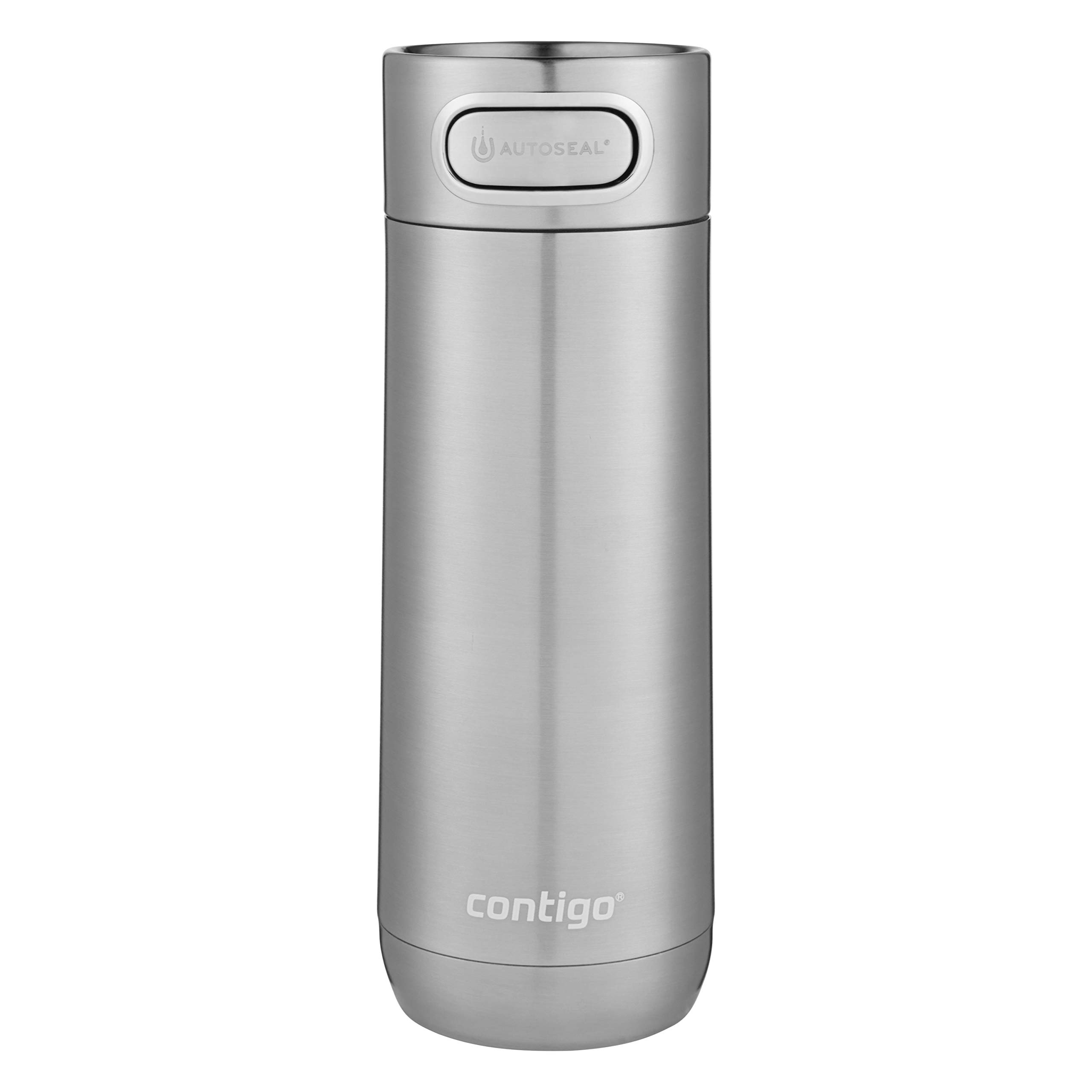 Contigo Luxe AUTOSEAL Vacuum-Insulated Travel Mug | Spill-Proof Coffee Mug with Stainless Steel THERMALOCK Double-Wall Insulation, 16 oz., Stainless Steel by Contigo