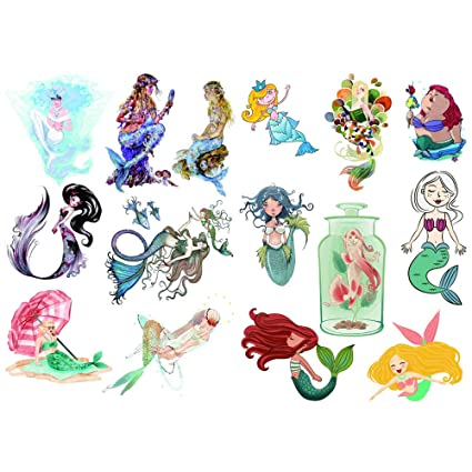 Amazon.com : Seasonstorm Kawaii Cartoon Mermaid Waterproof ...