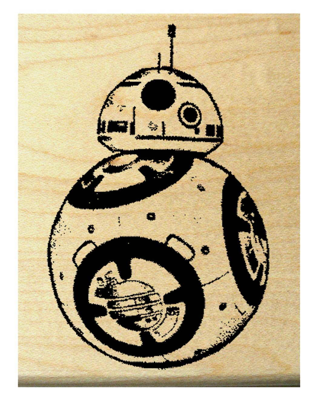 P93 BB8 robot rubber stamp 1.5x1
