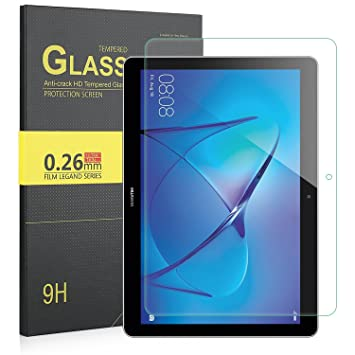 huawei mediapad t3. eltd huawei mediapad t3 10 screen protector, premium tempered glass 0.26 mm protector for mediapad