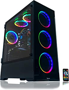 Gaming PC Desktop Computer Intel i5 3.10GHz,8GB Ram,1TB Hard Drive,Windows 10 pro,WiFi Ready,Video Card Nvidia GTX 650 1GB, 6 RGB Fans with Remote