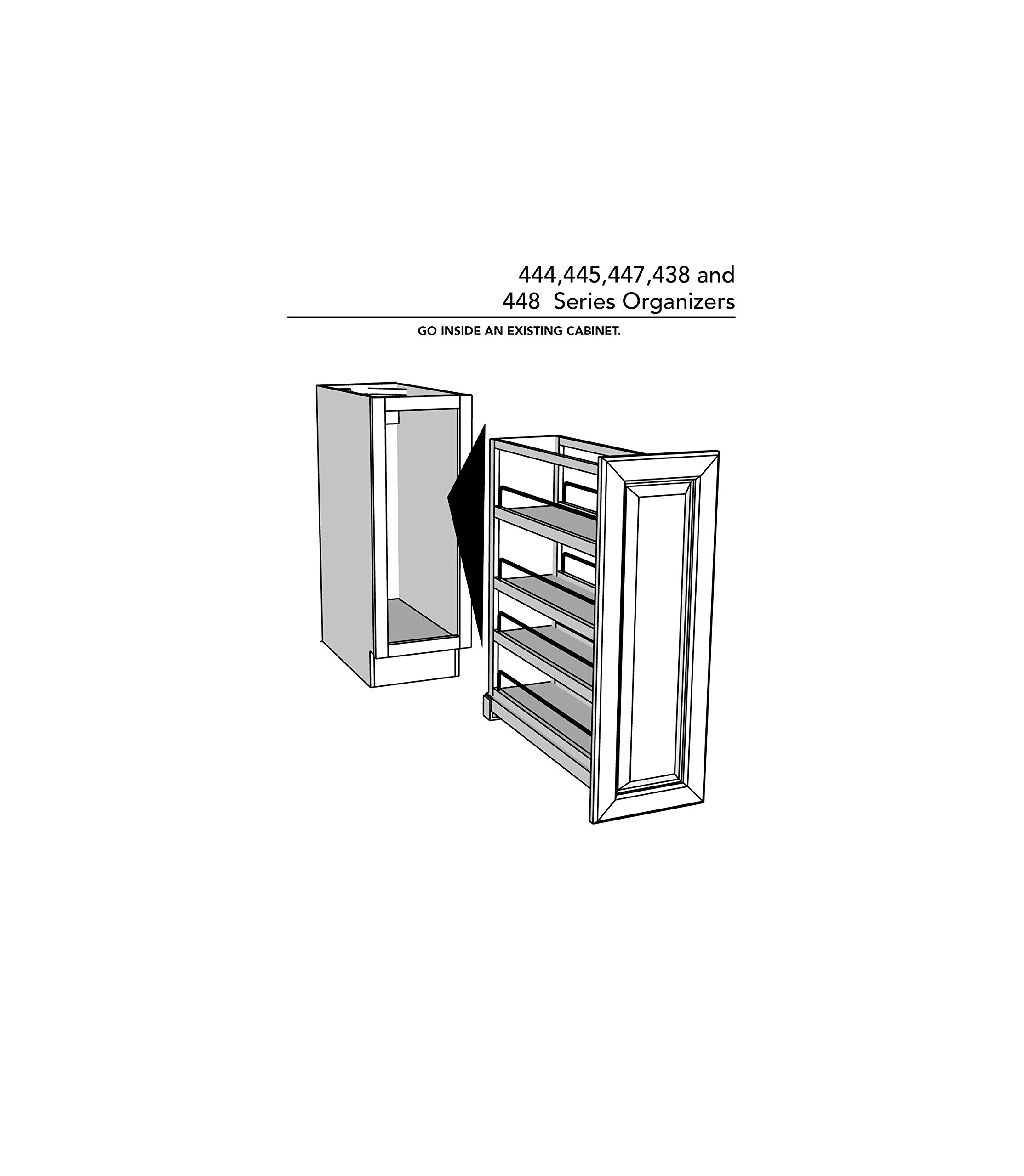 Rev-A-Shelf 448-BC-8C Base Cabinet Pullout Organizer with Wood Adjustable Shelves Sink & Base Accessories, 8-Inch by Rev-A-Shelf (Image #7)