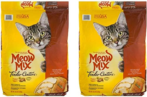 Meow Mix Tender Centers Dry Cat Food – 2 Pack of 13.5 Lb