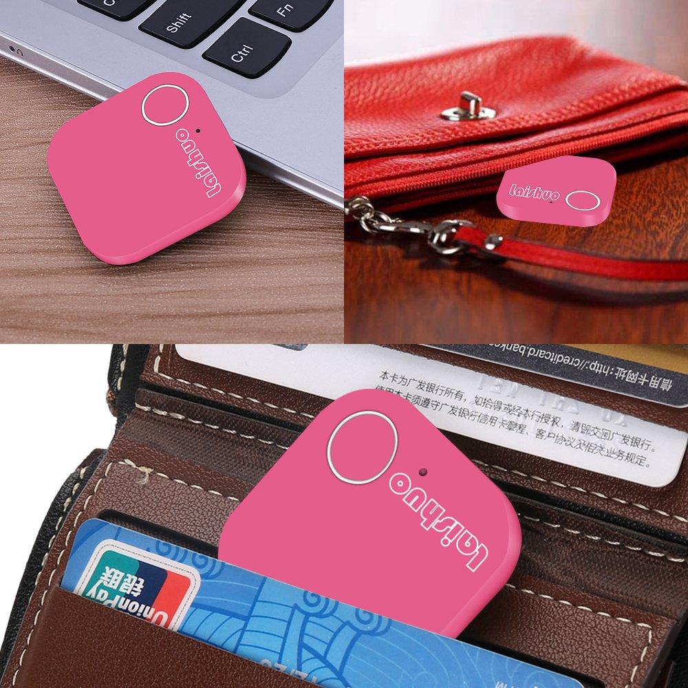 Bluetooth Tracker, Bluetooth keys Tracker, Bari Key Finder Tracking Wallet Key Bag Pet Dog Tracer Locator Alarm Patch GPS Locator for iOS/iPhone/iPod/iPad/Android by Bari (Image #3)