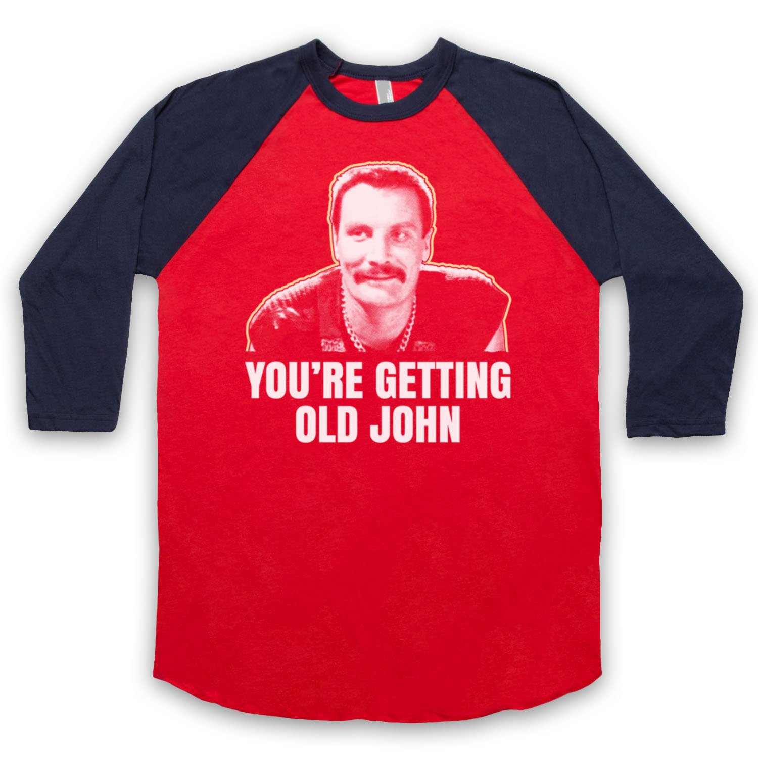 Inspired by Commando Bennett You're Getting Old Unofficial 3/4 Sleeve Retro Baseball Tee