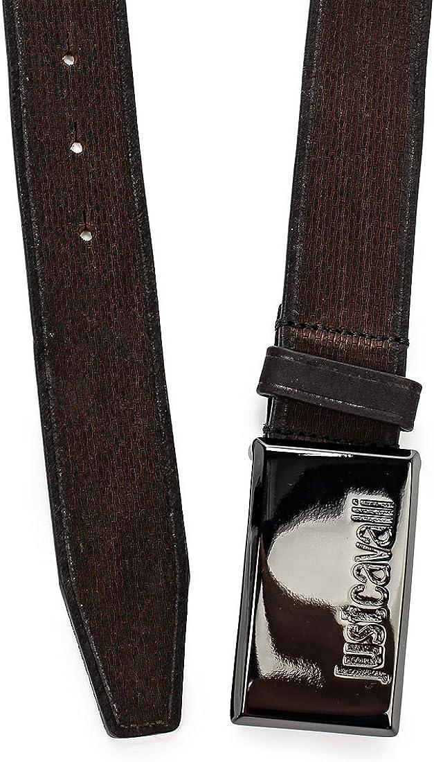 Black $195-Now $69 JUST CAVALLI Logo Buckle Belt