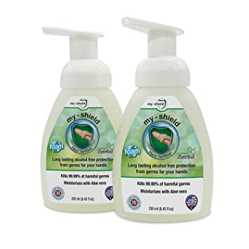 Amazon Com My Shield Hand Sanitizer Foam 8 25 Oz 2 Pack Long
